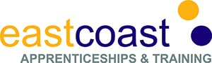 East Coast Apprenticeships & Training logo goes to apprenticeships page