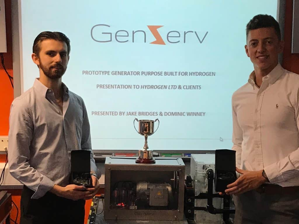 Foundation Degree students announced as the winners of an annual engineering competition sponsored by local engineering firm GeoTherm Ltd