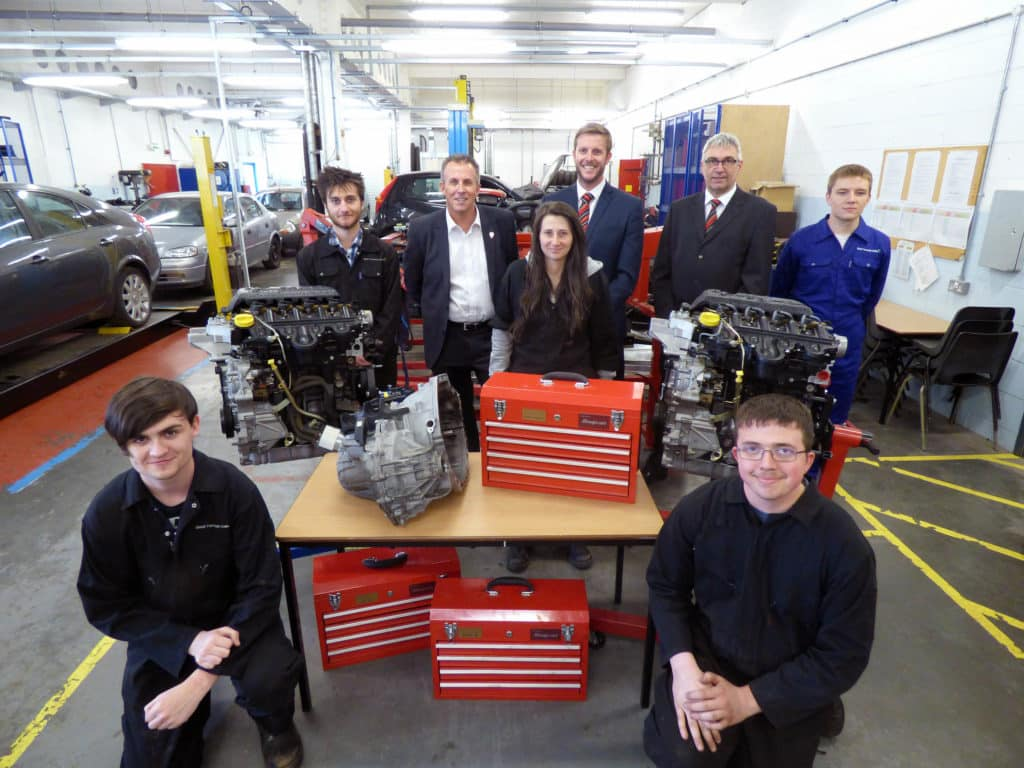 East Coast College's motor vehicle department revs up with new engines and toolkits