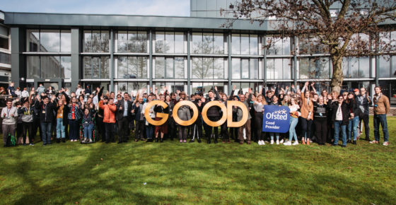 Ofsted Good photo with students and staff