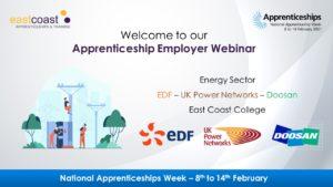 Energy sector webinar with EDF, UK Power Networks and Doosan.