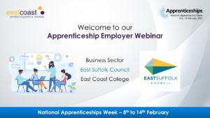 Business sector webinar with East Suffolk Council.