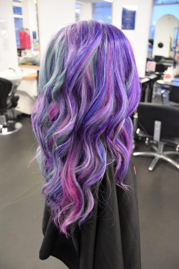 Chloe Brown's finalist hair colour entry. Photo East Coast College.