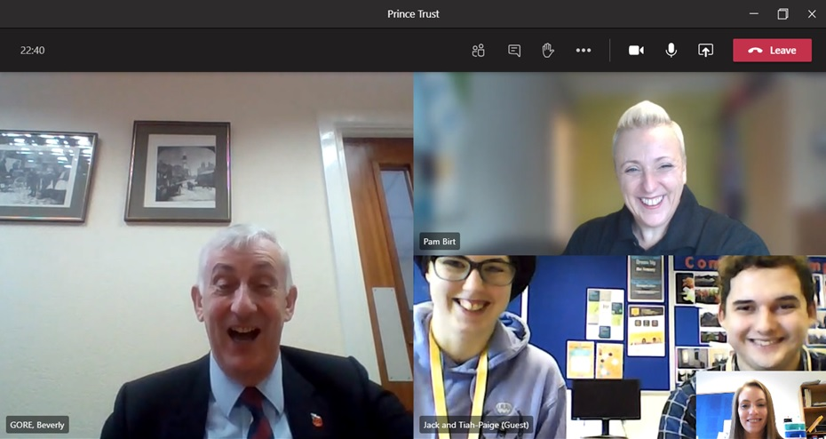 Students from The Prince's Trust programme at East Coast College interviewing Sir Lindsay Hoyle. Photo East Coast College