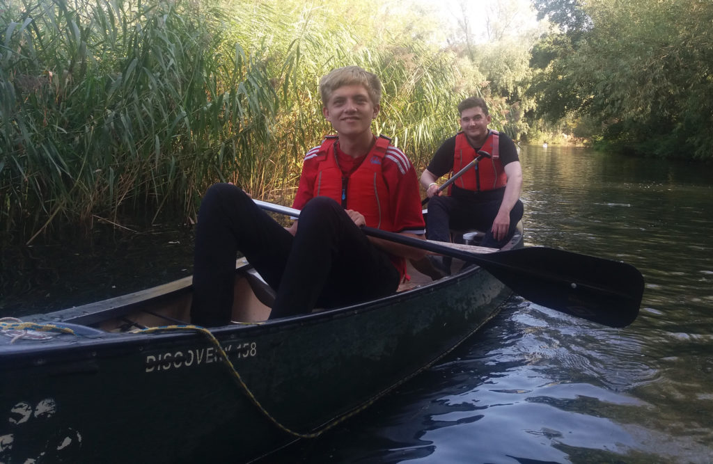 Students from the Prince's Trust programme at East Coast College canoeing. Photo East Coast College