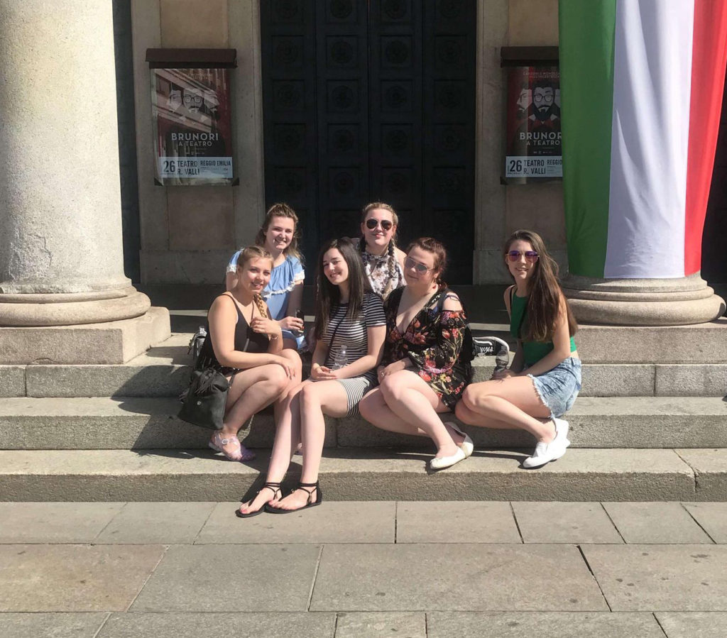 East Coast College students on a previous trip to Italy. Photo East Coast College.